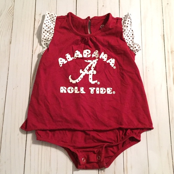 8c0211c89 Cheekie Peach One Pieces | Alabama Crimson Tide Baby Girl Onesie ...